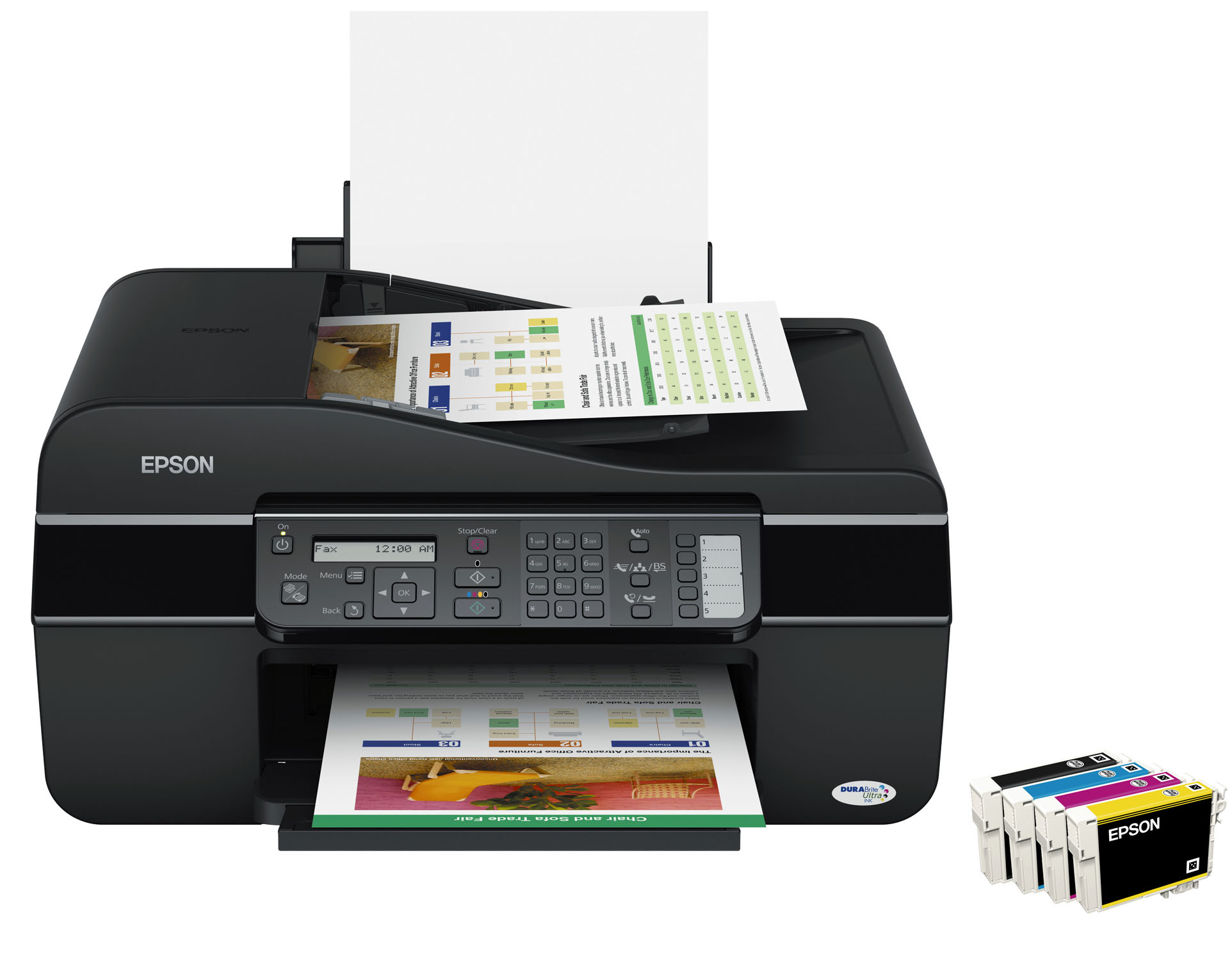 Alimentador automático de documentos y fax incorporado